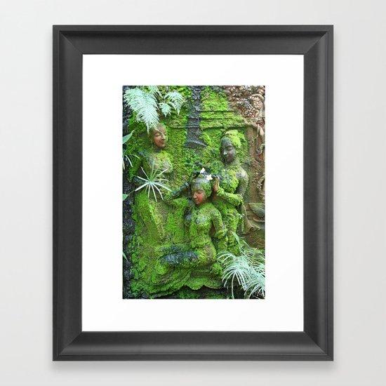 Green Ladies Framed Art Print