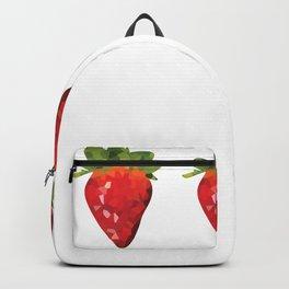 strawberries 1x3 pattern, fill, repeating, tiled | elegant Backpack
