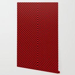 Red Black Checker Boxes Design Wallpaper