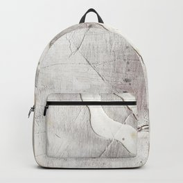 Feels: a neutral, textured, abstract piece in whites by Alyssa Hamilton Art Backpack