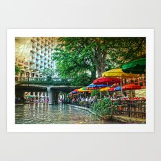 San Antonio Riverwalk Art Print