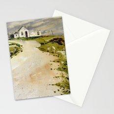 windswept coast Stationery Cards