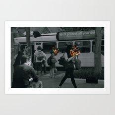 Street people collage series Art Print