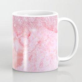 Sparkly Pink Rosegold Glitter Blush Marble Coffee Mug