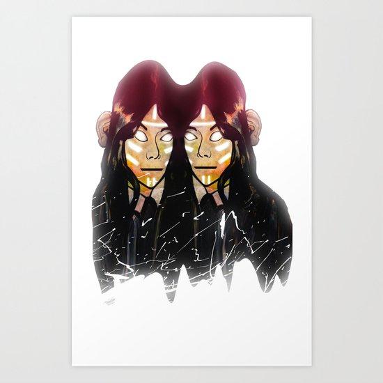 twins ascension  Art Print