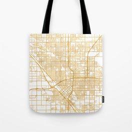 FRESNO CALIFORNIA CITY STREET MAP ART Tote Bag