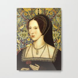 Queen Anne Boleyn Metal Print
