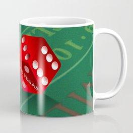 Craps Table & Red Las Vegas Dice Coffee Mug