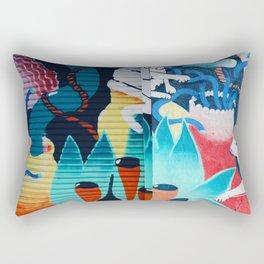 Cat graffiti Rectangular Pillow