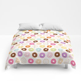 Happy Cute Donuts Pattern Comforters