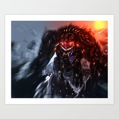 Shadow Titan Art Print