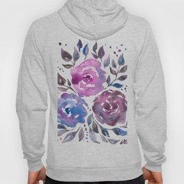 Dreamy Watercolor Flowers Hoody