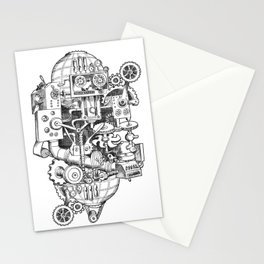 DINNER TIME FOR THE ROBOT Stationery Cards