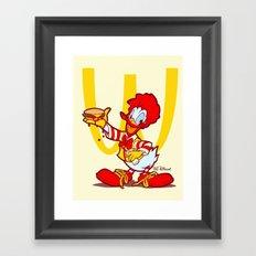 RONALD MCDONALD DUCK Framed Art Print