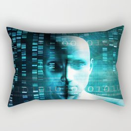 Medical Research in Genetics and DNA Science as Concept Rectangular Pillow