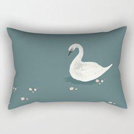 Watercolor Swan Rectangular Pillow