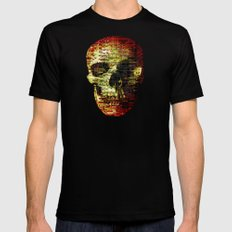 Opportunistic Species (P/D3 Glitch Collage Studies) MEDIUM Black Mens Fitted Tee