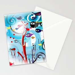 Reef Underwater Fishes Stationery Cards