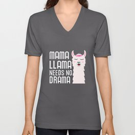 Mama Llama Needs No Drama Funny And Cute Llama Unisex V-Neck