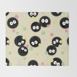 Soot Sprites with Konpeito Sugar Candy Throw Blanket