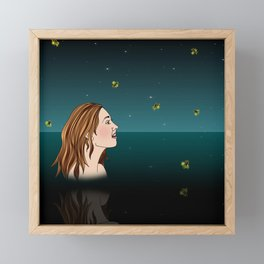 Swimming With Fireflies Framed Mini Art Print