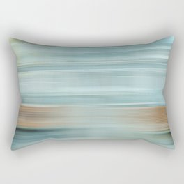 Life (Aqua and Burnt Rose) Rectangular Pillow
