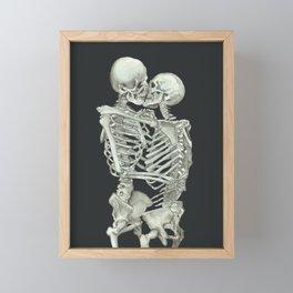 Valentine's Day: Skeleton Kiss Framed Mini Art Print