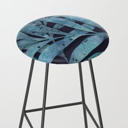 Watercolor Ferns Bar Stool