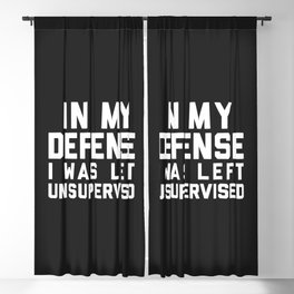 Left Unsupervised Funny Quote Blackout Curtain