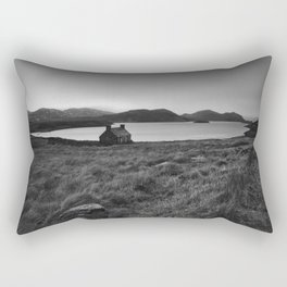 Old Cottage at Loch Stack Rectangular Pillow
