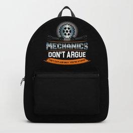 Mechanic Technician Engineering Auto-Mechanic Gift Backpack