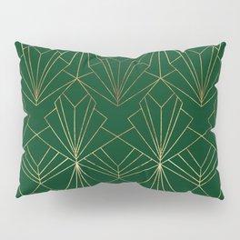 Art Deco in Gold & Green Pillow Sham