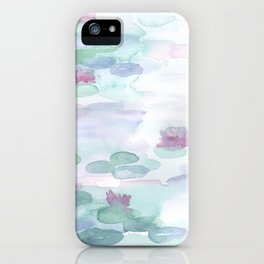 Monet Lily pads iPhone Case