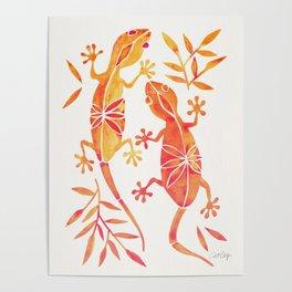 Geckos – Fire Palette Poster