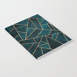 Deep Teal Stone Notebook