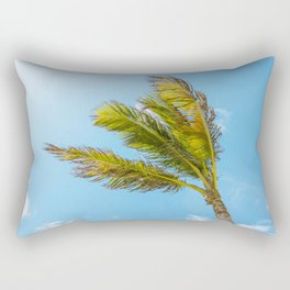 Palm Tree, Blue Sky Rectangular Pillow