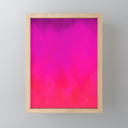Fuchsia Fire Magenta Violet Ombre Framed Mini Art Print