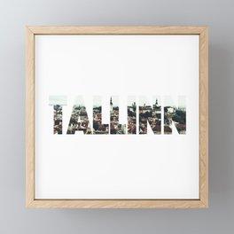 Tallinn City Old View Landscape Tallin Estonia Framed Mini Art Print