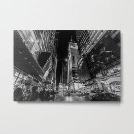 Night at Times Square Metal Print