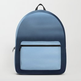 Hand painted navy blue gray watercolor ombre Backpack