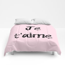 Je t'aime Pink Comforters