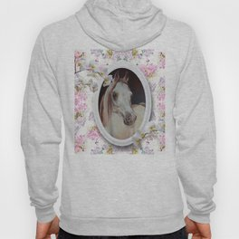 White orchids & Arabian mare Hoody
