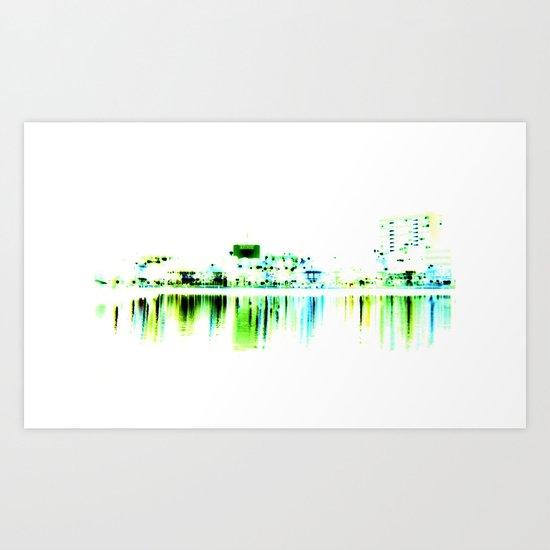 white harbor II. Art Print