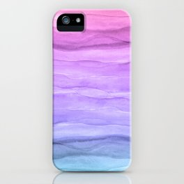 Abstract Watercolor Layers - Purple Ombre iPhone Case