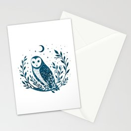 Owl Moon - Blue Stationery Cards