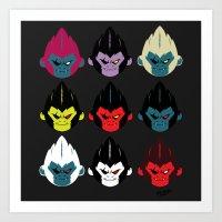 gorillaz Art Prints featuring Gorillaz by DexDexign