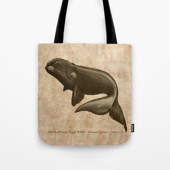 North Atlantic Right Whale Tote Bag