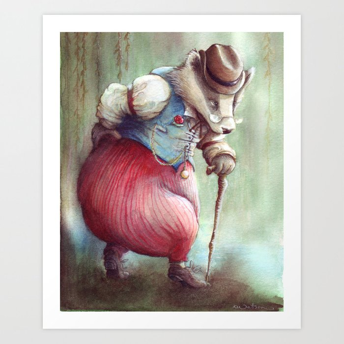 Mr. Badger - The Wind in the Willows Art Print
