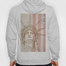 statue of liberty face with flag Hoody