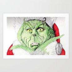 Grinch Art Print